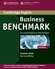 Business Benchmark Second edition Pre-intermediate-Intermediate Business Preliminary Student's Book