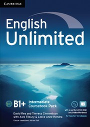 English Unlimited Intermediate Coursebook with ePortfolio and Online Workbook Pack
