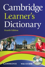 Cambridge Learner's Dictionary Fourth edition Paperback with CD-ROM