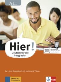 Hier! A1.1 Studentenboek en Übungsbuch met Audios en Videos