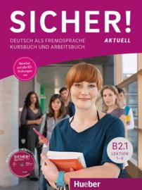 Sicher! aktuell B2.1 Studentenboek en Werkboek met MP3-CD bij het Werkboek Les 1–6