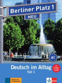 """Berliner Platz 1 NEU Studentenboek en Werkboek Teil 1 met Audio-CD bij het Werkboekteil en """"Im Alltag EXTRA"""""""