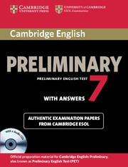 Cambridge English Preliminary 7 Self-study Pack (Student's Book with answers and Audio CDs (2))