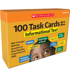 100 Task Cards in a Box: Informational Text