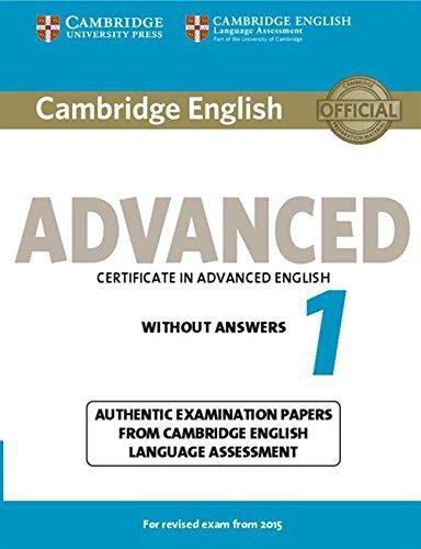 Cambridge English Advanced 1 Student's Book without answers