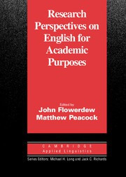 Research Perspectives on English for Academic Purposes Paperback