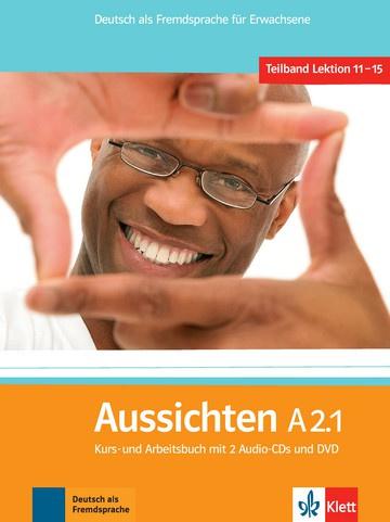 Aussichten A2.1 Studentenboek/Werkboek met 2 Audio-CDs en DVD