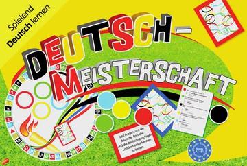 Deutsch-Meisterschaft Spielbrett 2 Sets à 66 Karten 60 farbige Spielsteine Würfel Anleitung