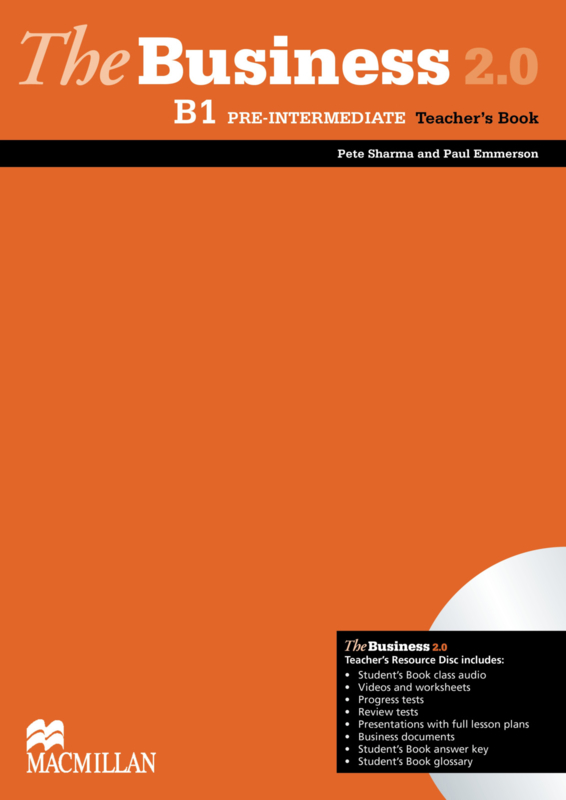 The Business 2.0 Pre-intermediate B1 Teacher's Book Pack