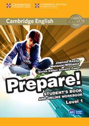 Cambridge English Prepare! Level 1 Student's Book and Online Workbook