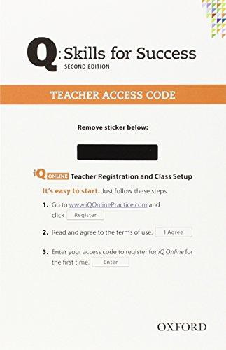 Q Skills For Success Teacher Iq Online Access Card