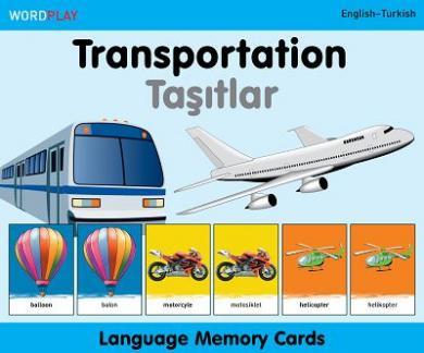 Language Memory Cards – Transportation (English–Turkish)