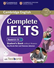 Complete IELTS Bands6.5-7.5C1 Student's Book without answers with CD-ROM with Testbank