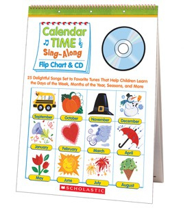 Calendar Time Sing-Along Flip Chart  CD