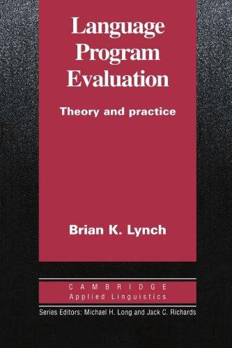 Language Program Evaluation Paperback