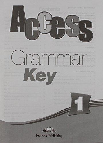 Access 1 Grammar Book Key (international)