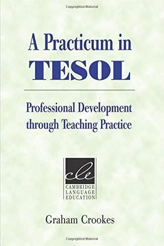 A Practicum in TESOL Paperback