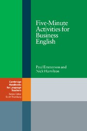 Five-Minute Activities for Business English Paperback