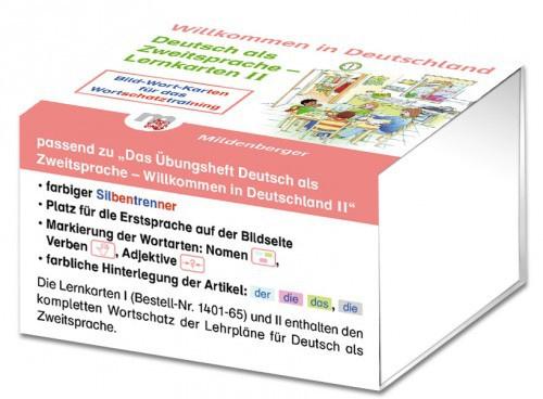 Willkommen in Deutschland –  Deutsch als Zweitsprache Lernkarten  II Lernkarten II