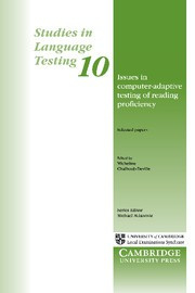 Issues in Computer-Adaptive Testing of Reading Proficiency Paperback