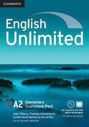 English Unlimited Elementary Coursebook with ePortfolio and Online Workbook Pack
