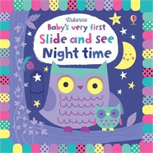 Baby's very first slide and see night time