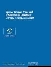 Common European Framework of Reference for Languages Paperback