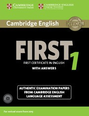Cambridge English First 1 Student's Book Pack (Student's Book with Answers and Audio CDs (2))