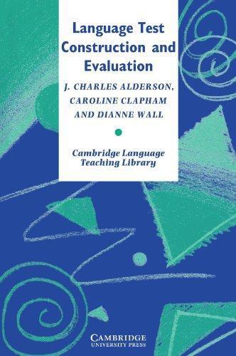 Language Test Construction and Evaluation Paperback