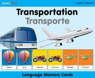 Language Memory Cards – Transportation (English–Spanish)