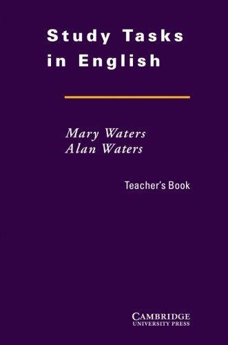 Study Tasks in English Teacher's Book