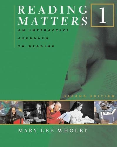 Reading Matters 1 Student's Book