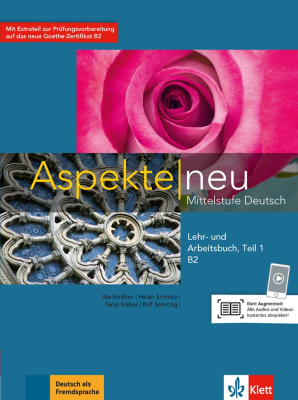 Aspekte neu B2 Studentenboek en Werkboek met Audio-CD Teil 1
