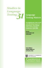 Language Testing Matters Paperback