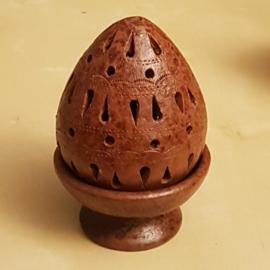 Tweedelige korrelwierook brander van aardewerk - ei