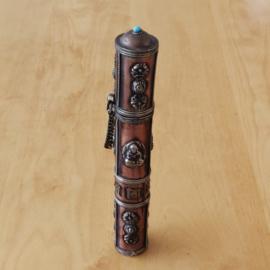 Tibetaanse metalen koker (dun)