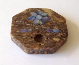 Wierook houder met blauwe bloem