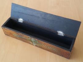 Bewaardoos voor Wierook met Spiegeltjes (Boeddha Ogen/Gouden)