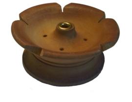 Houten Lotus Tibetaanse Wierook Brander (licht hout/klein)