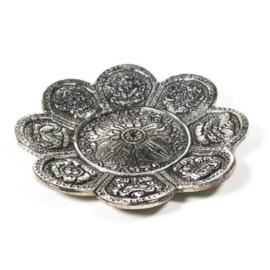 Wierookbrander 8 voorspoedsymbolen zilverkleur (bloem)