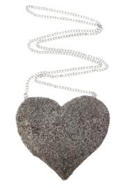 zilveren harten tasje