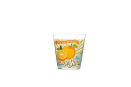 Glas, sinaasappel, voor water, fris en limonade, set van 6