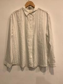 Wit blouse met streep