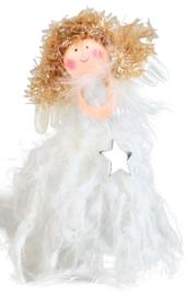 Engel, staand, wit met ster