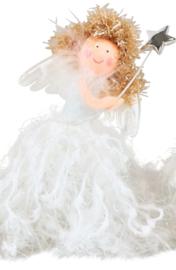 Engel, staand, wit met staf