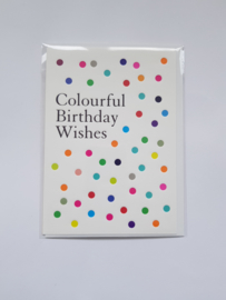 "Kaart  ""Colourful Birthday Wishes"", incl enveloppe"