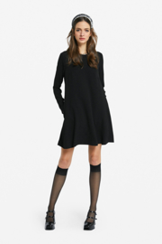 zwart jurkje a-lijn