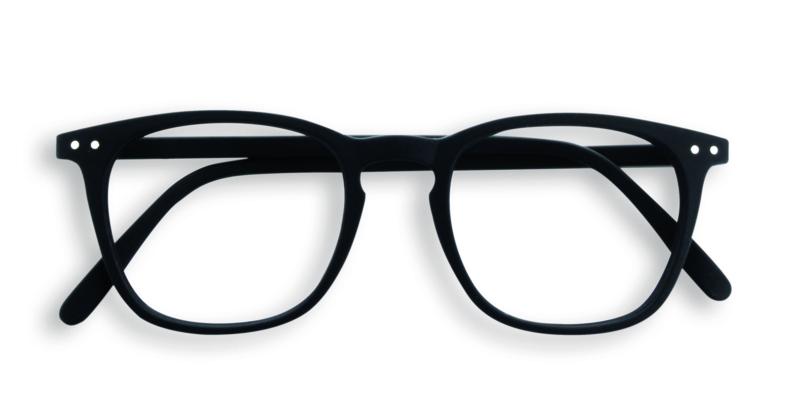 Izipizi, leesbril, model E, zwart, diverse sterktes