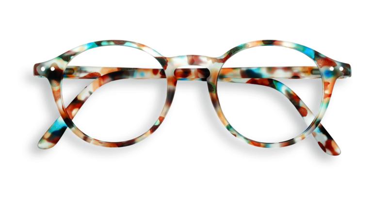 Izipizi, leesbril, model D, blue tortoise, diverse sterktes