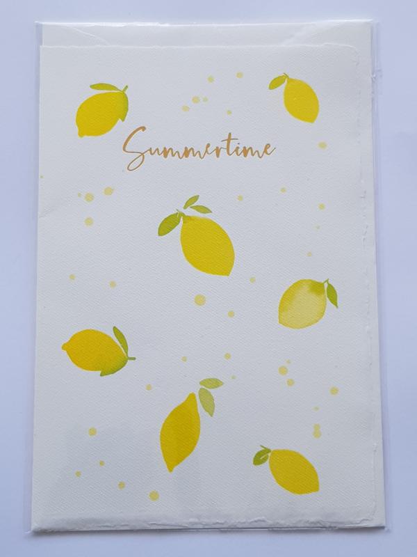 "Kaart, blanco van binnen, incl. enveloppe, ""Summertime"""